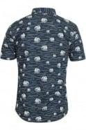 BELLFIELD Brava Wave Print Short Sleeve Shirt