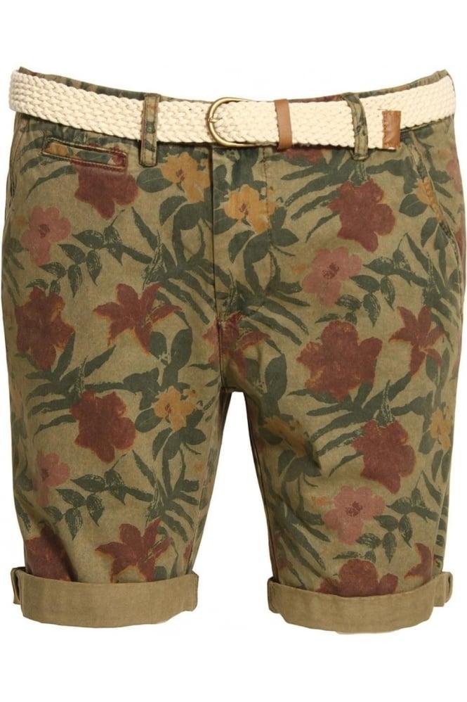 BELLFIELD Bulmer Overdye Floral Print Shorts