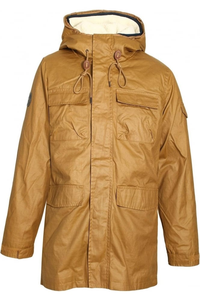 BELLFIELD Cardin 2 in 1 Washed Parka Jacket | Tobacco