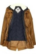 BELLFIELD Cardin 2 in 1 Washed Parka Jacket | Tobacco