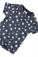 BELLFIELD Cascade Breaking Wave Pocket T-Shirt | Navy