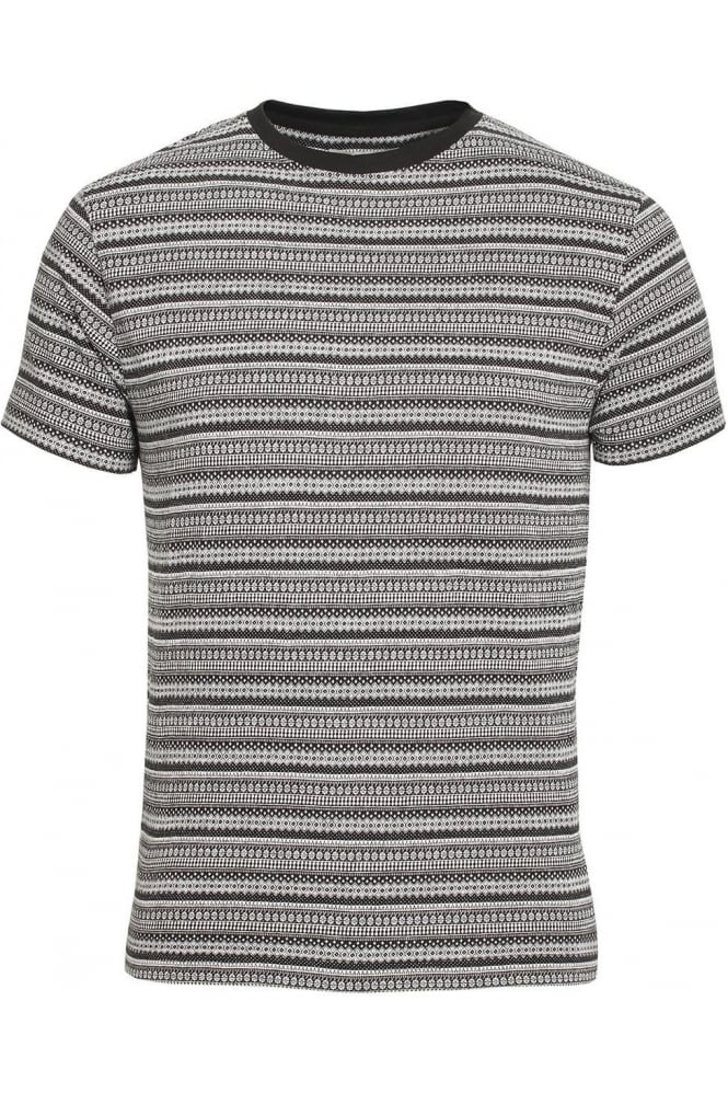 BELLFIELD Elmswell Jacquard Print T-Shirt | Black
