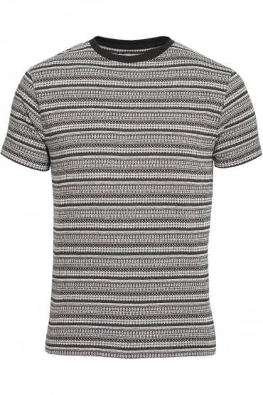 Elmswell Jacquard Print T-Shirt | Black