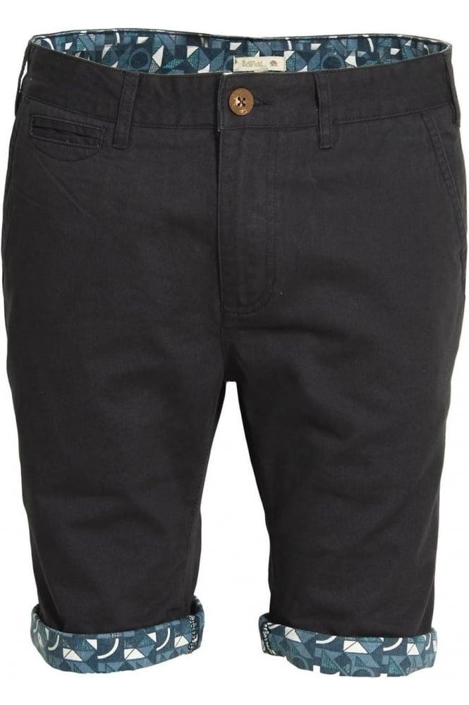 BELLFIELD Felsham Turn Up Printed Chino Shorts