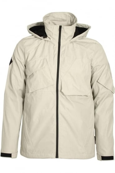 Gamma Hooded Tech Jacket Bone