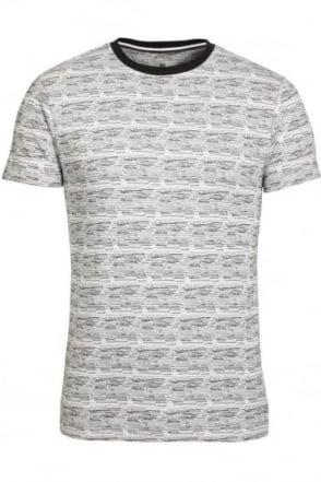 Hewitt Jacquard Print T-Shirt White