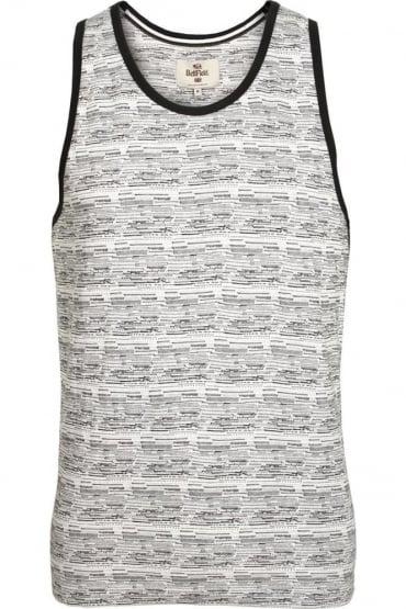 House Aztec Print Vest White