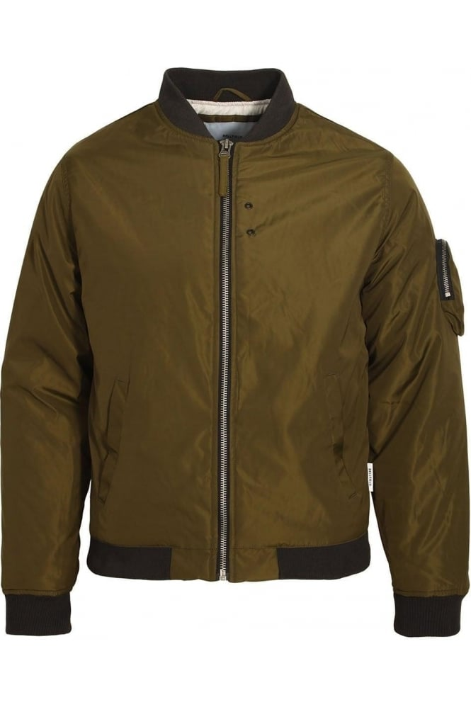 BELLFIELD Hubble MA1 Padded Bomber Jacket | Dark Olive