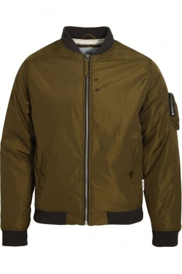 Hubble MA1 Padded Bomber Jacket | Dark Olive