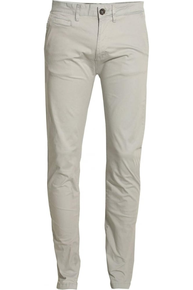 BELLFIELD Jezza Flat Fronted Chinos Frost Grey