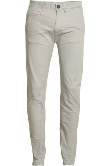 Jezza Flat Fronted Chinos Frost Grey