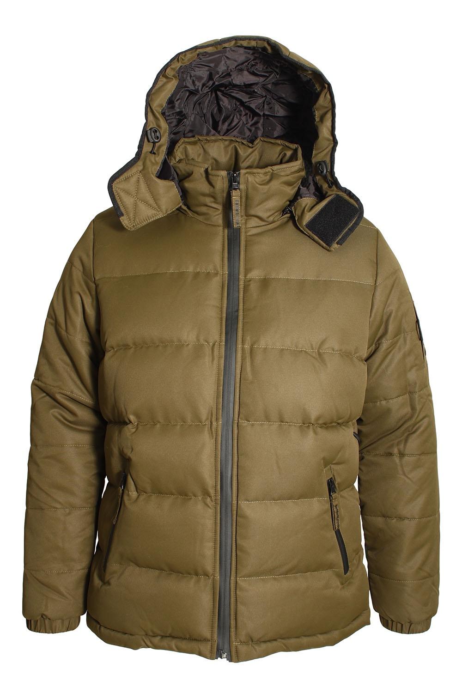 Bellfield Ludlow Hooded Puffa Jacket Khaki | Shop Bellfield Jackets