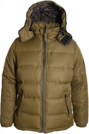 Ludlow Hooded Puffa Jacket | Khaki
