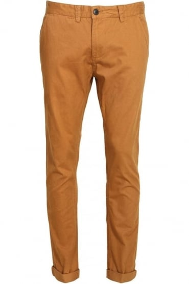 Melford Flat Fronted Cotton Chinos | Tobacco