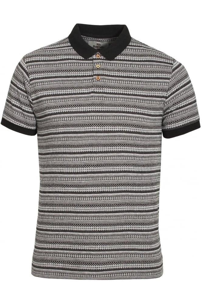 BELLFIELD Paddy Jacquard Print Polo Shirt