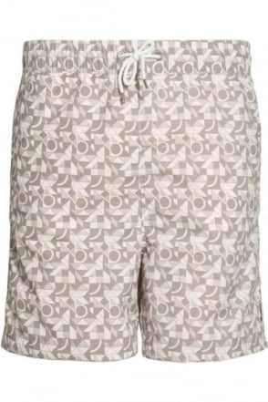 Popol Geo Print Swim & Board Shorts