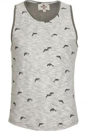 Shotwick Dolphin Print Vest | Grey