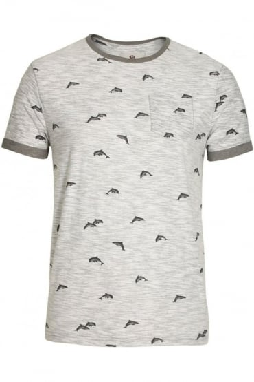 Stonewell Dolphin Print Pocket T-Shirt | Grey
