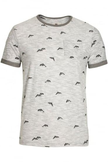 Stonewell Dolphin Print Pocket T-Shirt | Grey