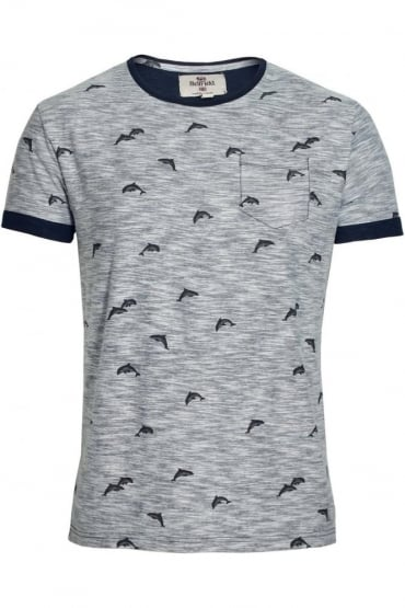 Stonewell Dolphin Print Pocket T-Shirt | Navy