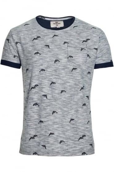 Stonewell Dolphin Print Pocket T-Shirt | Navy