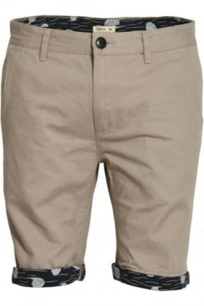 Walton Printed Turn Up Chino Shorts