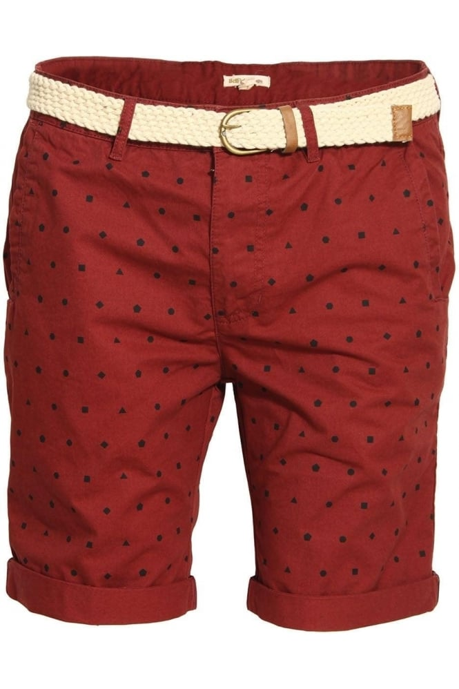BELLFIELD Whepstead Ditzy Print Shorts with Belt