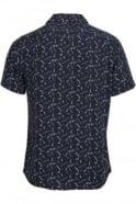 BELLFIELD Willems Short Sleeve Shirt Navy