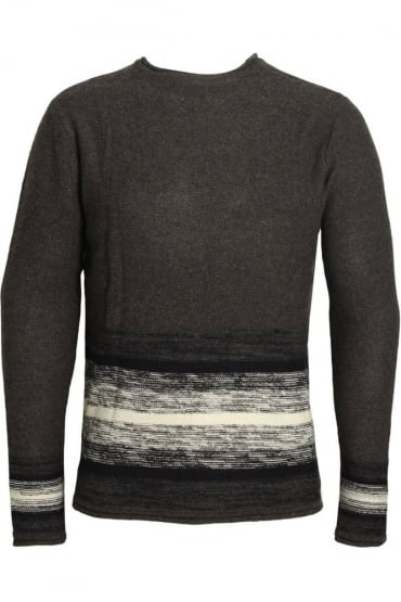 Wixoe Stripe Sausage Neck Jumper | Charcoal