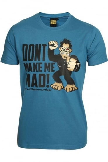Don't Make Me Mad T-Shirt | Blue & Grey