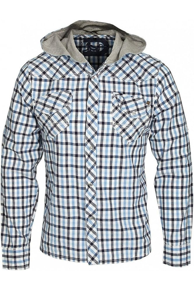 DRUNKNMUNKY Long Sleeve Checkmate Shirt | Blue