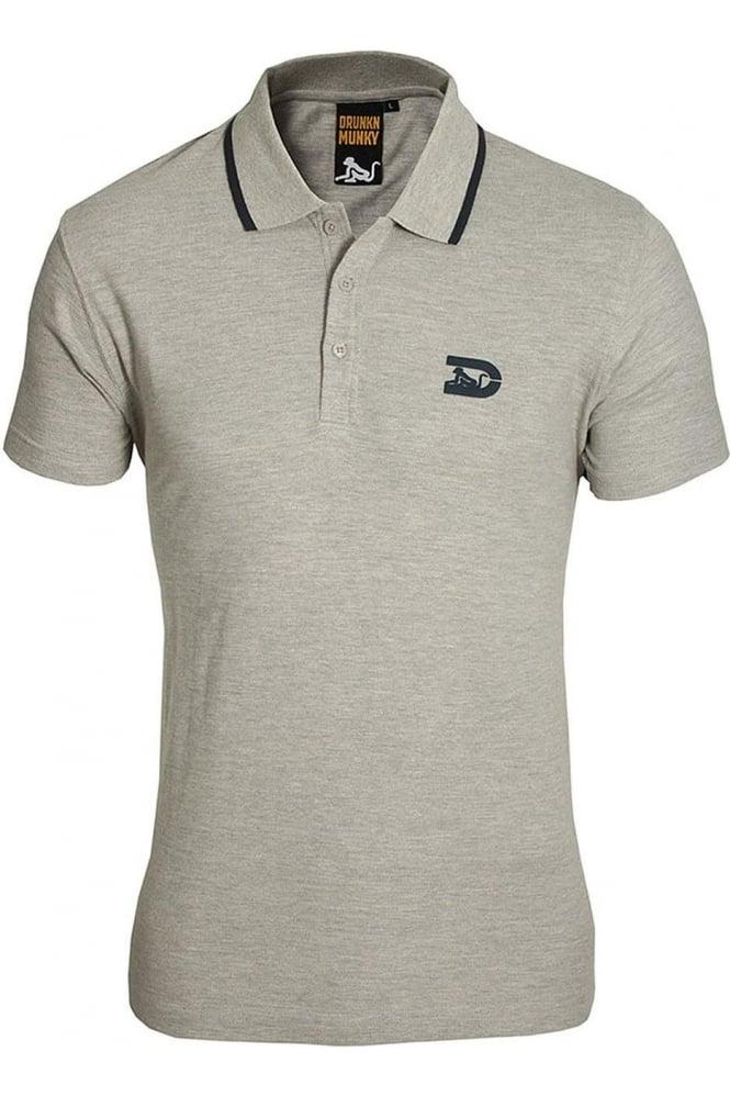 DRUNKNMUNKY Polo Shirt | Navy & Grey