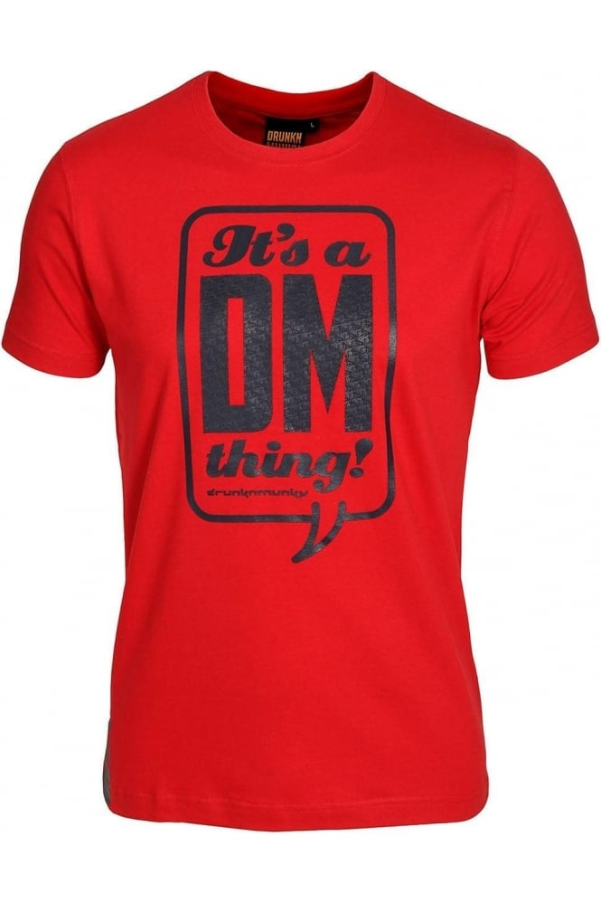 DRUNKNMUNKY Talk T-Shirt | Red, White & Blue