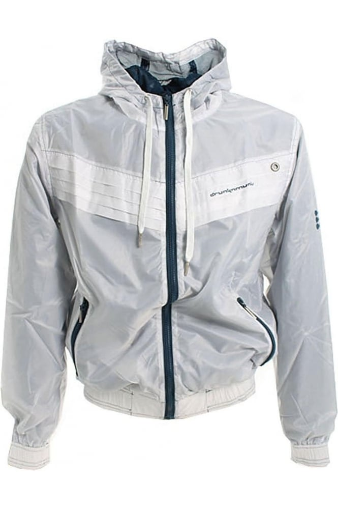 DRUNKNMUNKY Transparent Shell Jacket | White
