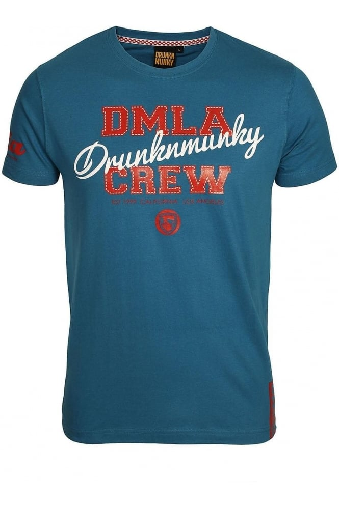 DRUNKNMUNKY Triad T-Shirt | Galaxy Blue
