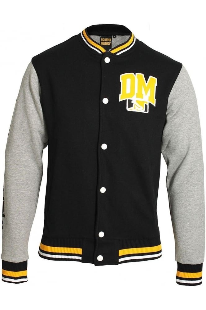 DRUNKNMUNKY Wah Ching Varsity Jacket | Black