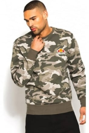 Diveria Crew Neck Sweatshirt Woodland Camo