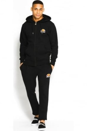 Miletto Zip Thru Hooded Tracksuit | Black