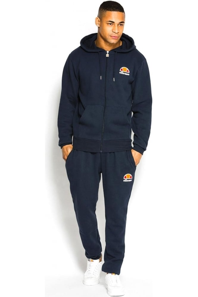 ELLESSE Miletto Zip Thru Hooded Tracksuit | Dress Blue