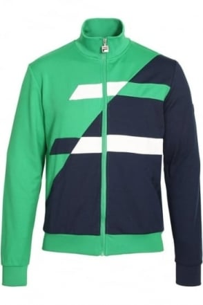 Azzaro Assy Panel Track Jacket | Kelly Green