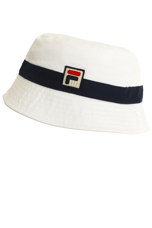 2504db9c3 FILA VINTAGE Basil Bucket Hat | White/Peacoat