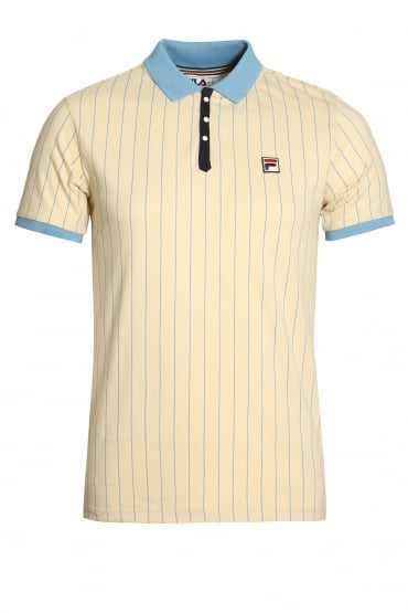 BB1 Classic Stripe Polo Shirt | Tapioca