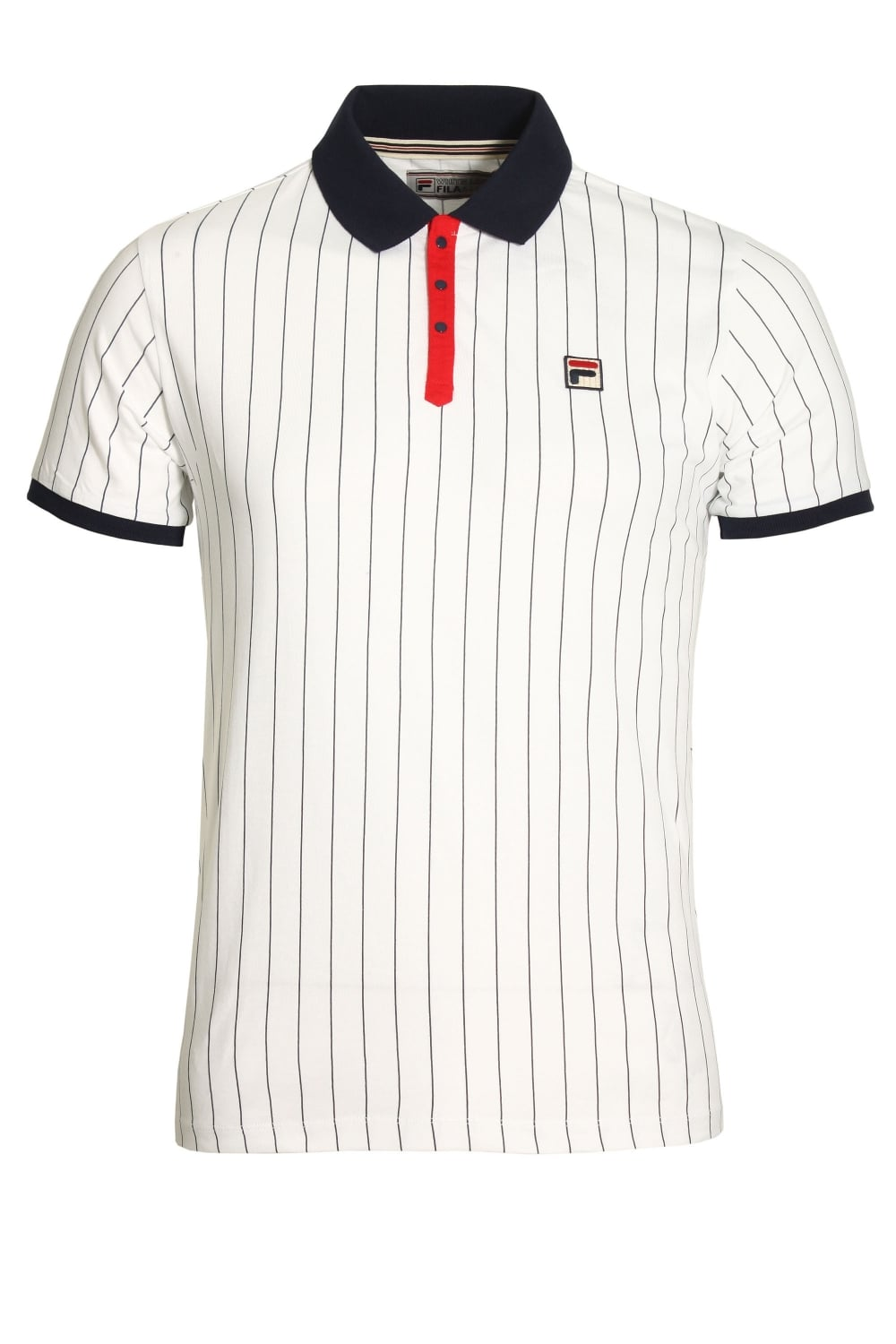 FILA VINTAGE BB1 Classic Stripe Polo Shirt | White