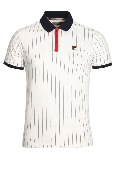 BB1 Classic Stripe Polo Shirt | White