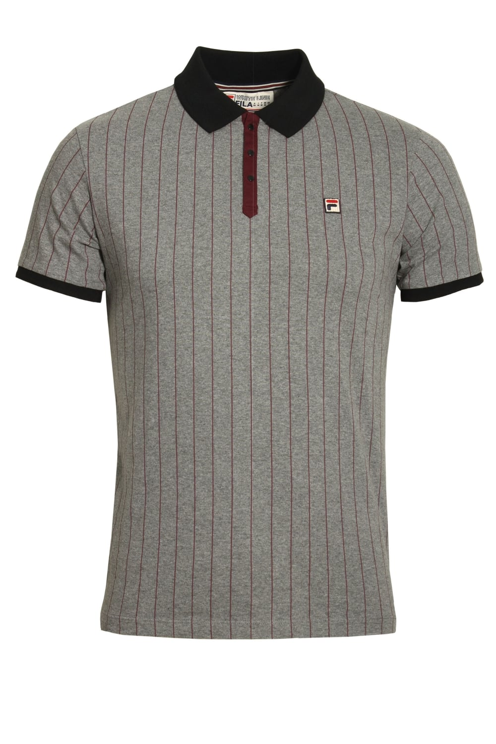 FILA VINTAGE BB1 Polo Shirt | Grey Twist