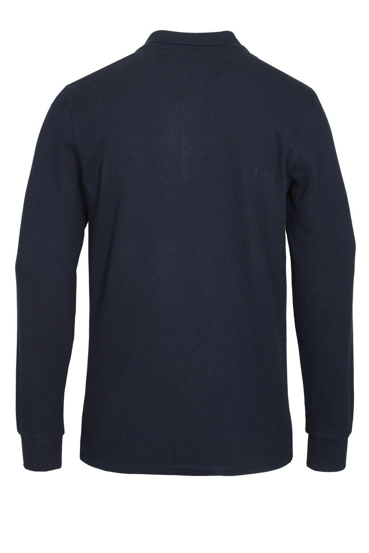 c803d455 Bertoni Long Sleeve Slim Fit Polo Shirt   Peacoat