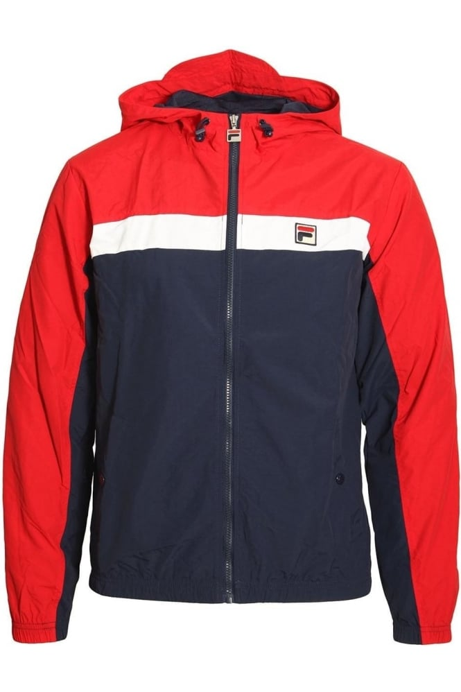 FILA VINTAGE Clipper Hooded Colour Block Jacket | Chinese Red