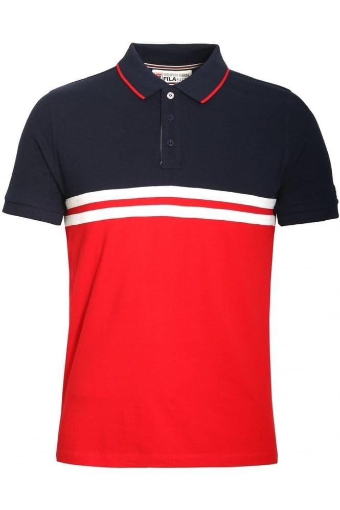 FILA VINTAGE Domeneco Cut & Sew Block Polo Shirt