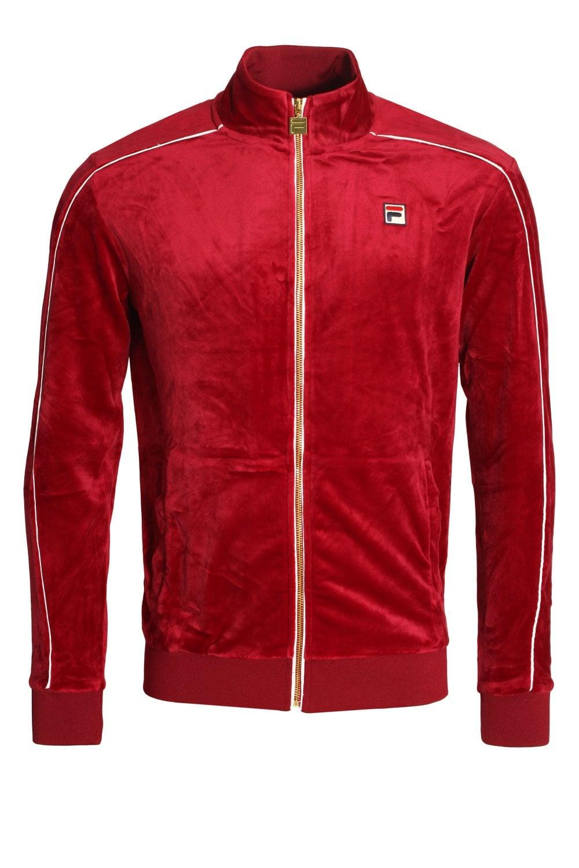 c8c197307f4 Fila Vintage Lineker Velour Track Jacket | Shop Fila Mens Sportswear