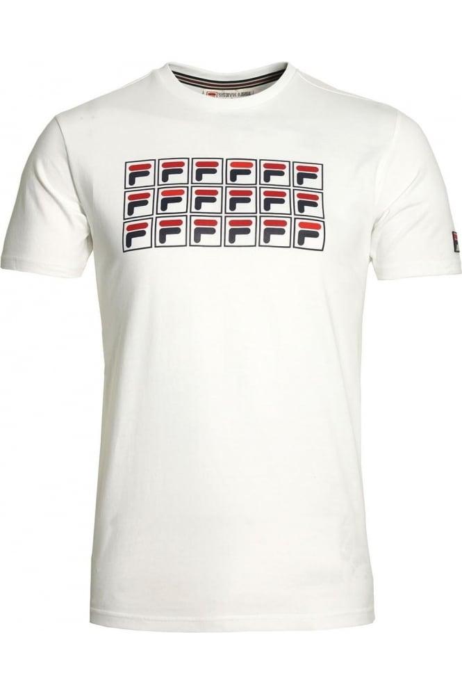 FILA VINTAGE Lorenzi Raglan Graphic Print T-Shirt | White